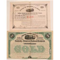 Kentucky & Illinois RR bonds  (110026)