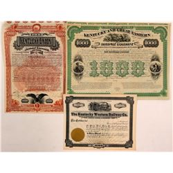 Kentucky Railroad Co.'s Stock/bonds  (112015)