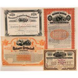 Nice Group of Baltimore Railroad Stocks  (111052)