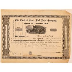 Eastern Shore Rail Road Co Printer's Proof Certificate, 1860  (111170)