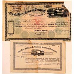 Kansas, Nebraska RR stock  (110996)