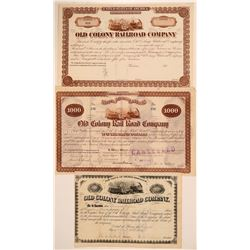 Old Colony Railroad Co. bonds/stock  (110995)