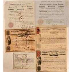 Boston & Providence Rail Road Stock Group, 1835-1870 (6)  (111187)