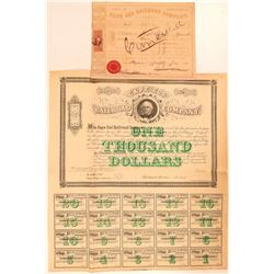 Cape Cod Railroad Company Stock and Bond Certificate  (111294)
