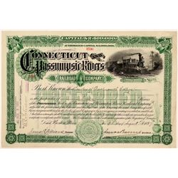 Connecticut & Passumpsic Rivers Railroad Co Stock Certificate, 1897  (111205)