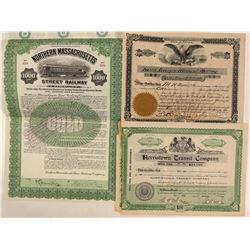 Massachusetts, Pennsylvania and Georgia stocks  (112267)