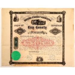 Bay County MI - in aid of Bay City & East Saginaw Rail Road Bond, 1864  (111049)