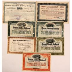 Detroit Railroads Stock Certificate Group 1  (111029)