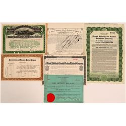 Detroit Railroads Stock Certificate Group 2  (111030)