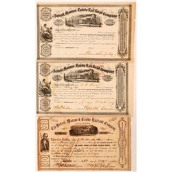 Detroit, Monroe and Toledo Rail Road Stock Group (3), 1857, 1862  (111026)