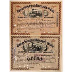 Chicago, Saint Paul, Minneapolis & Omaha Railway Co Stocks (2)  (111231)