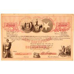 Cairo & Fulton Rail Road Co of Missouri Land Certificate, 1860  (111062)
