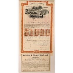 Bartlett & Albany Railroad Stock and Bond Certificates  (111033)