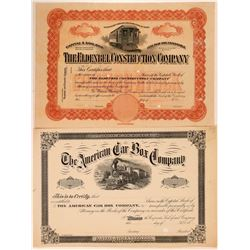 Two Unlisted Eastern Railroad Stocks, Maine and New Jersey  (111195)