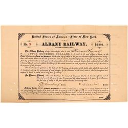Albany Railway $500 Second Mortgage Bond, 1873  (111158)