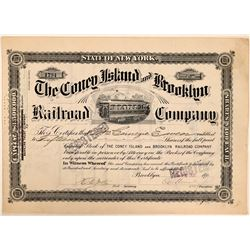 Coney Island & Brooklyn Railroad Co Stock Certificate  (111206)