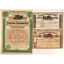 Cooperstown & Susquehanna Valley Rail Road Co Stock & Bonds (3)  (111095)