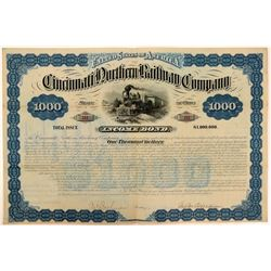 Cincinnati Northern Railway Co $1,000 Income Bond, 1881  (111247)