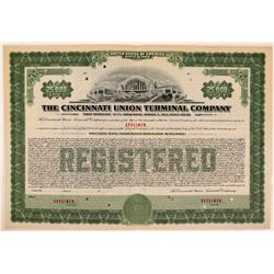Cincinnati Union Terminal Co Specimen Bond- Series A, $25,000, Green- Rare  (111172)
