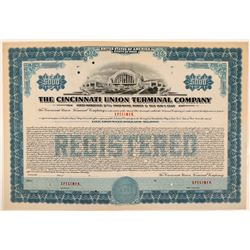 Cincinnati Union Terminal Co Bond Specimen, Blue, Series C, $5,000  (111186)