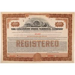 Cincinnati Union Terminal Co Bond Specimen, Brown, Series E, $10,000- Rare  (111182)