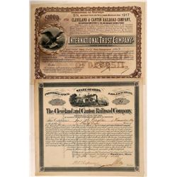 Cleveland & Canton Railroad Co Preferred Stock and Certificate of Deposit  (111280)