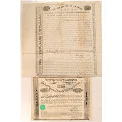Cleveland, Painsville & Ashtabula R.R. + Cleveland, Zanesville & Cincinatti R.R. Bonds, 1852-53  (11