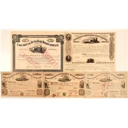 Columbus & Xenia Rail Road Co Stock Certificate Group (5)  (111097)