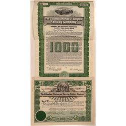 Columbus Marion & Bucyrus Railway Co Stock and Bond  (111284)