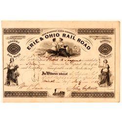 Franklin Canal Company's Erie & Ohio Rail Road Stock, 1850  (111083)