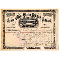 Chester and Media Electric Railway Co Stock Certificate #1  (111075)