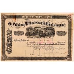 Dillsburg & Mechanicsburg Rail Road Co Stock, 1879  (111240)