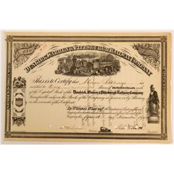 Dunkirk, Warren & Pittsburgh Railway Company Stock, 1872  (111016)