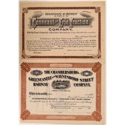 Two Unknown Pennsylvania Railroad Stocks  (111199)