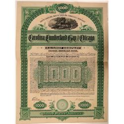 Carolina, Cumberland Gap & Chicago Rwy Co Bond- Unlisted  (111292)