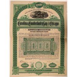 Carolina, Cumberland Gap & Chicago Rwy Co Bond- Unlisted  (111292)