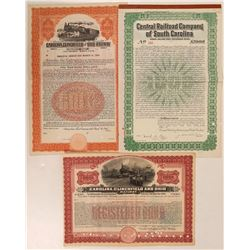 South Carolina Railroad Bonds (3)  (111291)