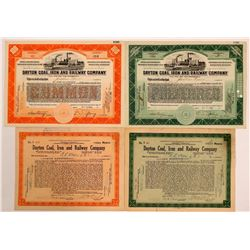 Dayton Coal, Iron and Railway Company Stock Certificates (4(  (111028)