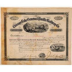 Chicago, Lake Geneva & Pacific Railway Co Stock Certificate  (111220)