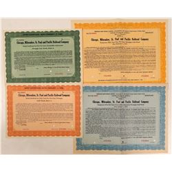 Chicago, Milwaukee, St. Paul & Pacific Railroad Co Specimen Bonds & Scrip (4)  (111226)