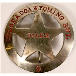 Colorado-Wyoming Railway Police badge  (112756)