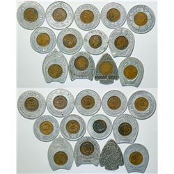 Group of Encased Indian Head Pennies Dated 1901-1909 (13)  (111534)