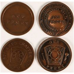Gold Rush Area Masonic Pennies  (112782)