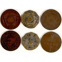 Southern California Beaches Masonic Pennies  (112748)