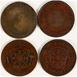 Visalia Masonic Pennies  (112740)