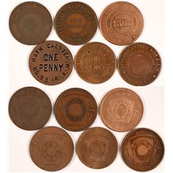 New York & New Jersey Masonic Pennies  (112082)