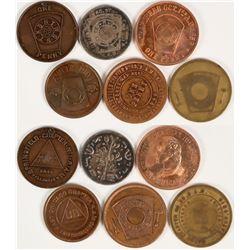 Midwestern Masonic Pennies  (112741)