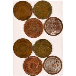 Four Masonic Pennies  (110599)