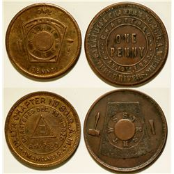 Two Masonic Pennies  (112392)