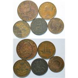 Canadian Copper Coins  (114311)